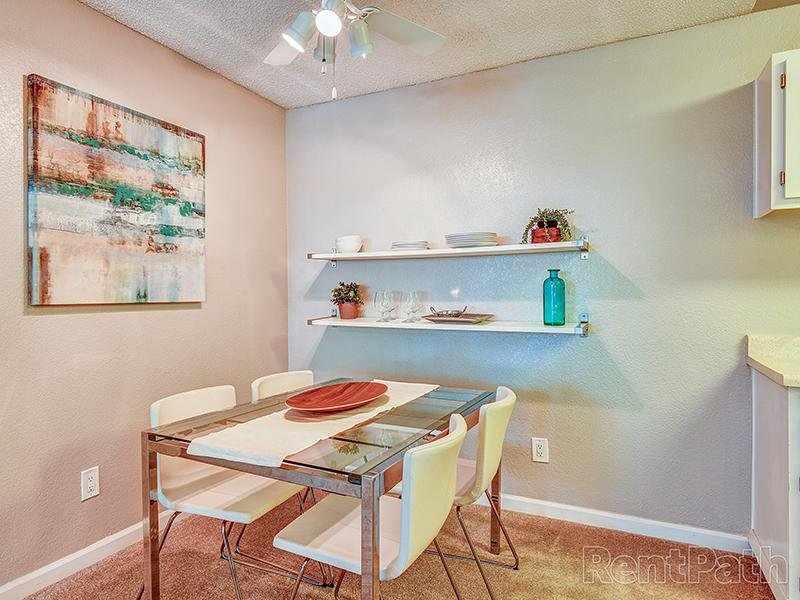Model Dining Area | Crossings at Wyndham Apartments in Sacramento CA