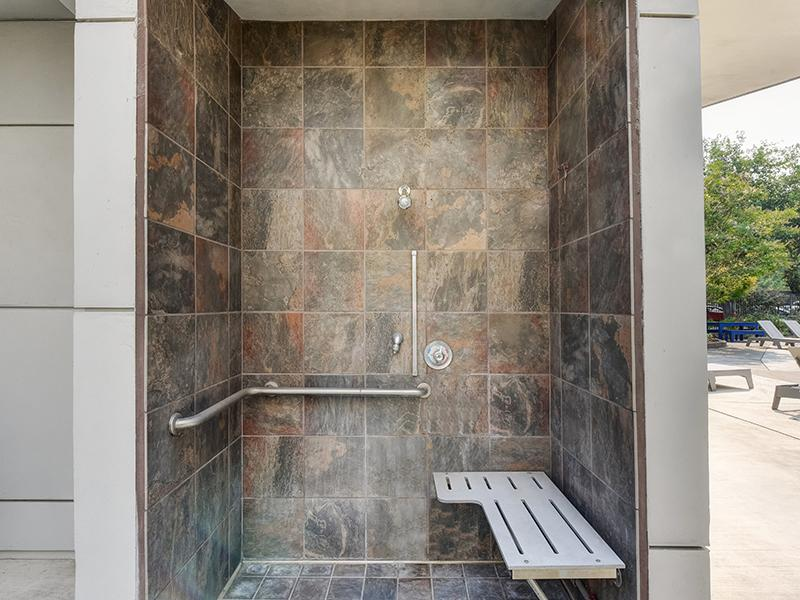 Pool Shower | The Crossing at Wyndham Apartments in Sacramento, CA
