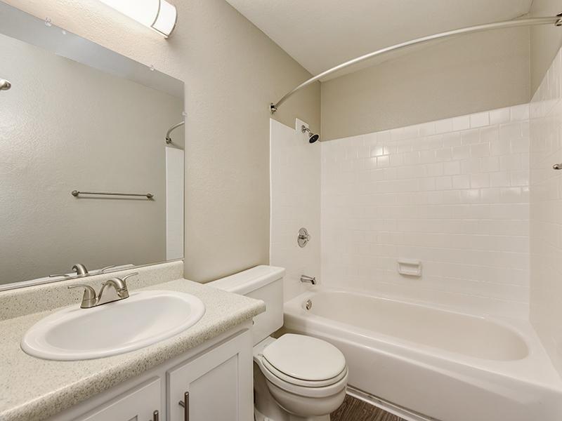 Bathroom | Crossing at Wyndham Apartments in Sacramento CA