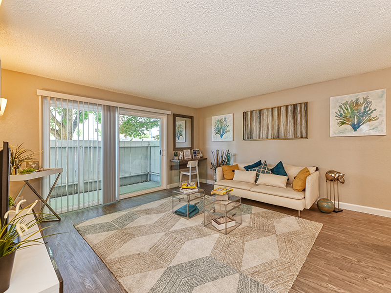 Living Room Furnished | The Crossing at Wyndham Apartments in Sacramento, CA