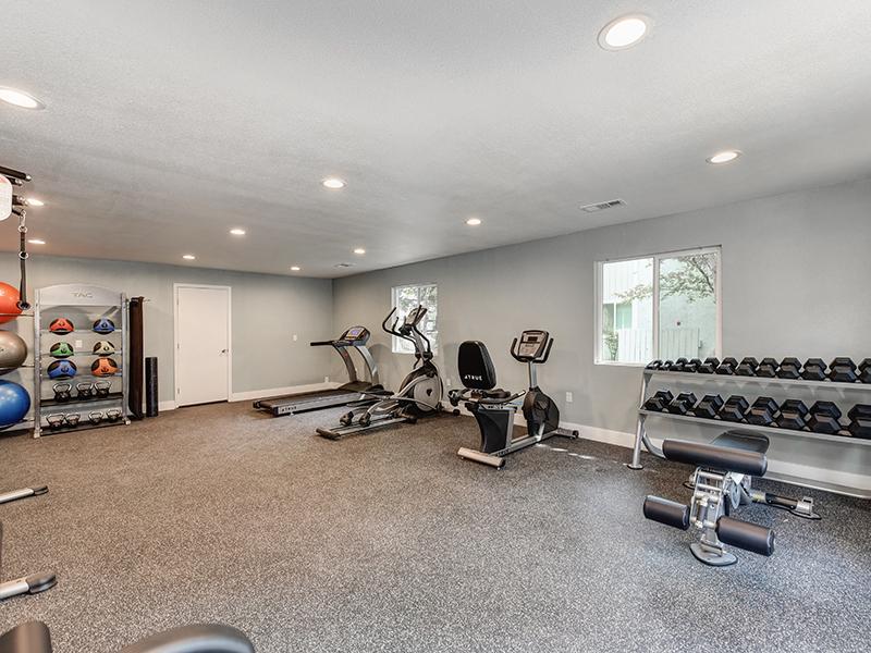 Gym | The Crossing at Wyndham Apartments in Sacramento, CA