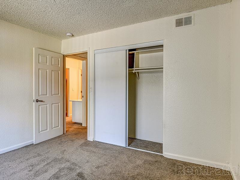 Apartment Bedroom With Closet Space | Crossing at Wyndham Apartments in Sacramento CA