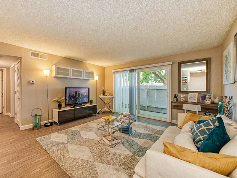Furnished Living Room | The Crossing at Wyndham Apartments in Sacramento, CA