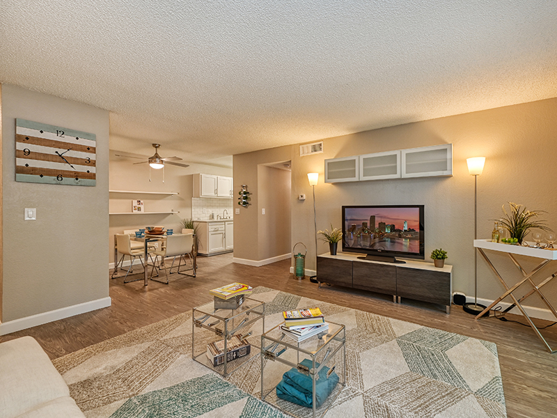 Furnished Front Room | The Crossing at Wyndham Apartments in Sacramento, CA
