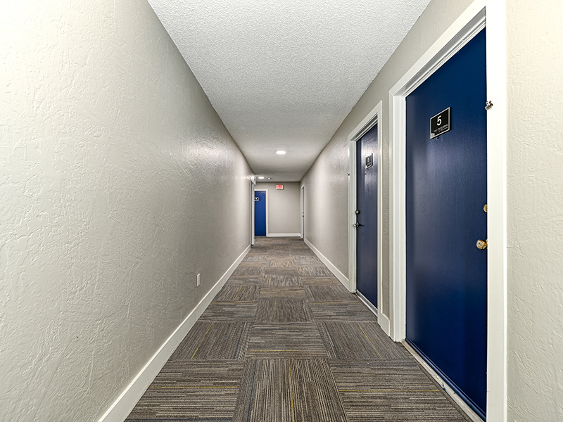 Hallway | The Crossing at Wyndham Apartments in Sacramento, CA
