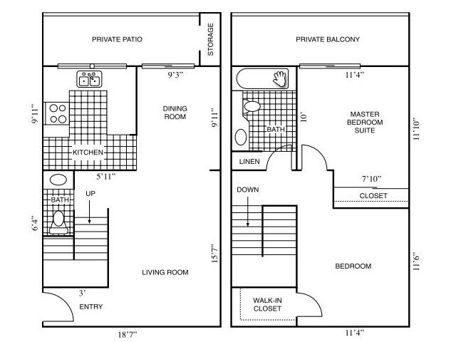 Floor Plans at Horizon Apartments