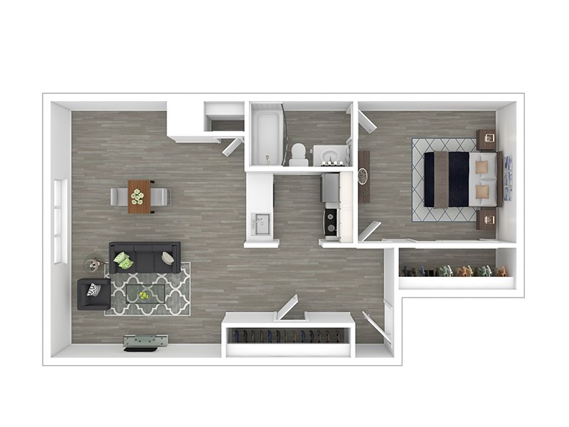 Our 1X1 is a 1 Bedroom, 1 Bathroom Apartment