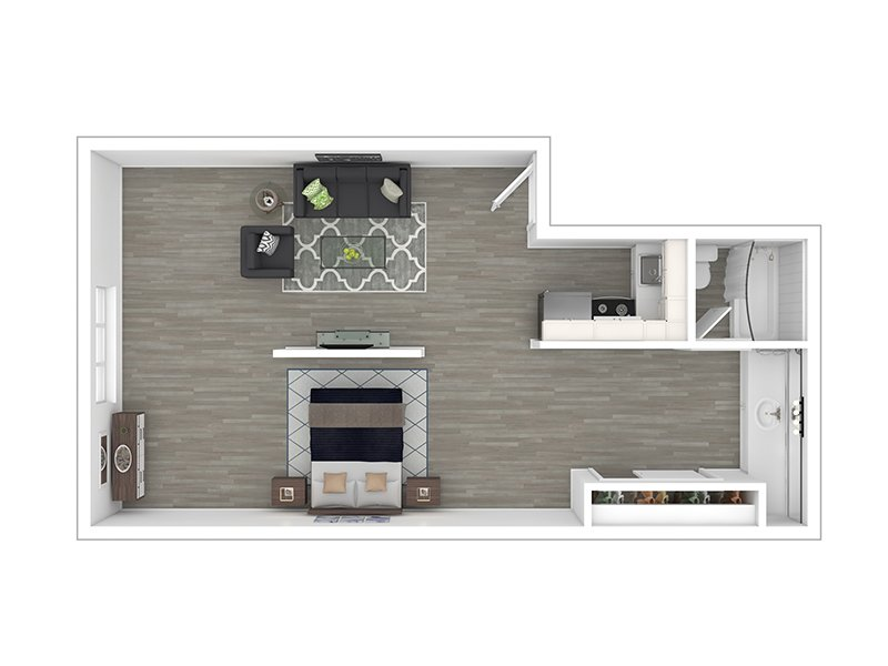 Our STD LG Part-Reno is a Studio Bedroom, 1 Bathroom Apartment