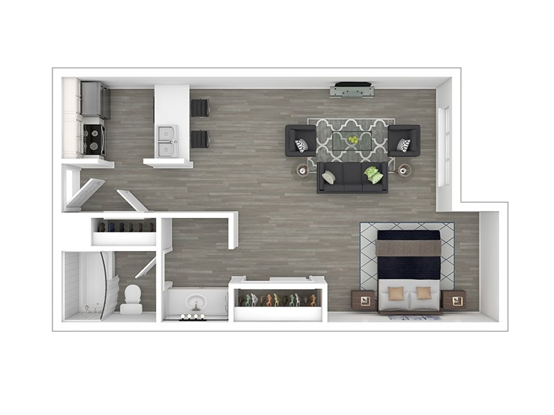 Our Studio Part Reno is a Studio Bedroom, 1 Bathroom Apartment