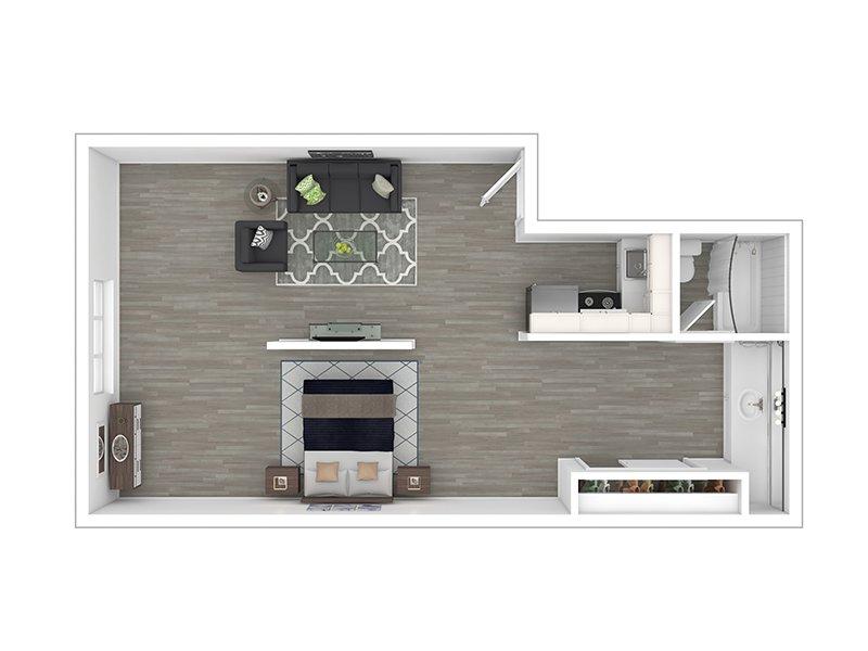 Our STUD LG is a Studio Bedroom, 1 Bathroom Apartment