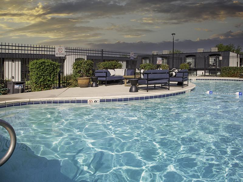 Shimmering Pool | Lookout Pointe Apartments in Provo, UT