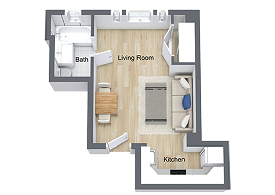 Floorplan for Nob Hill Place Apartments