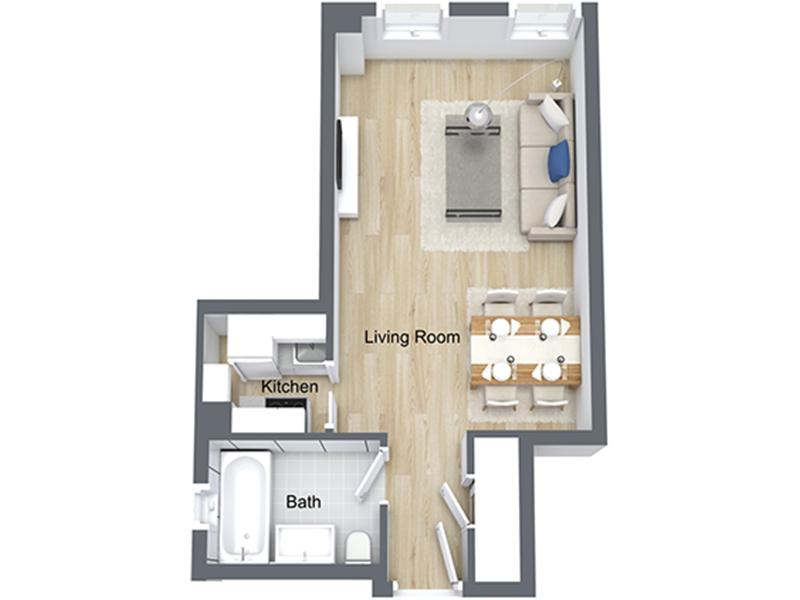 Our EFF-10 R is a Studio Bedroom, 1 Bathroom Apartment