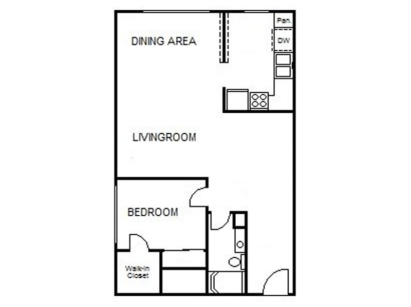 Our 1x1 LG is a 1 Bedroom, 1 Bathroom Apartment