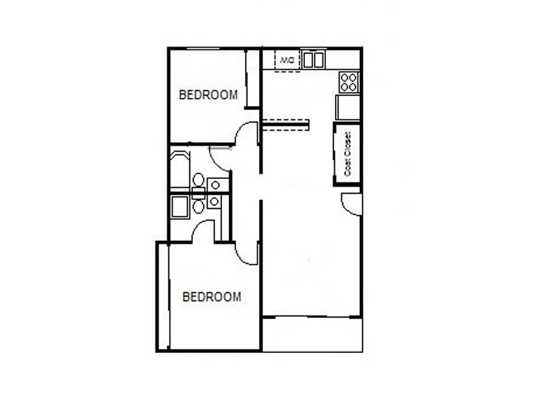 Our 2x2 LG is a 2 Bedroom, 2 Bathroom Apartment