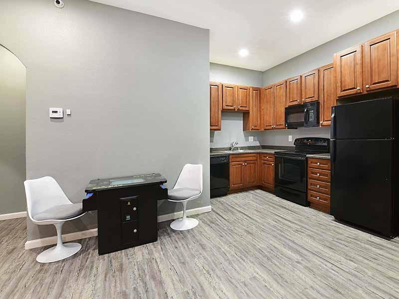 Clubhouse Kitchen  | Camden Village Apartments