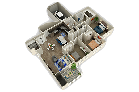 Floorplan for Alloy at Geneva Apartments