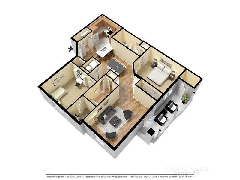 Our Coronado 2x2 Enhanced is a 2 Bedroom, 2 Bathroom Apartment