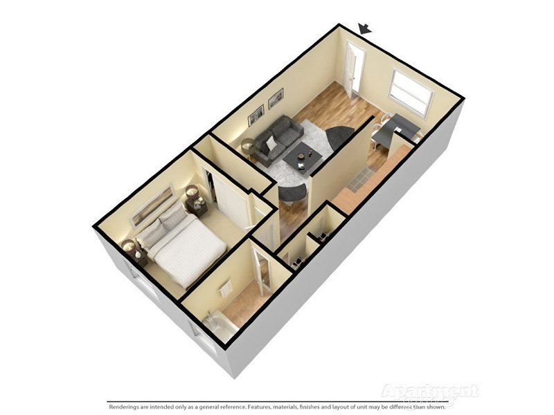 Our Siena 1X1 is a 1 Bedroom, 1 Bathroom Apartment