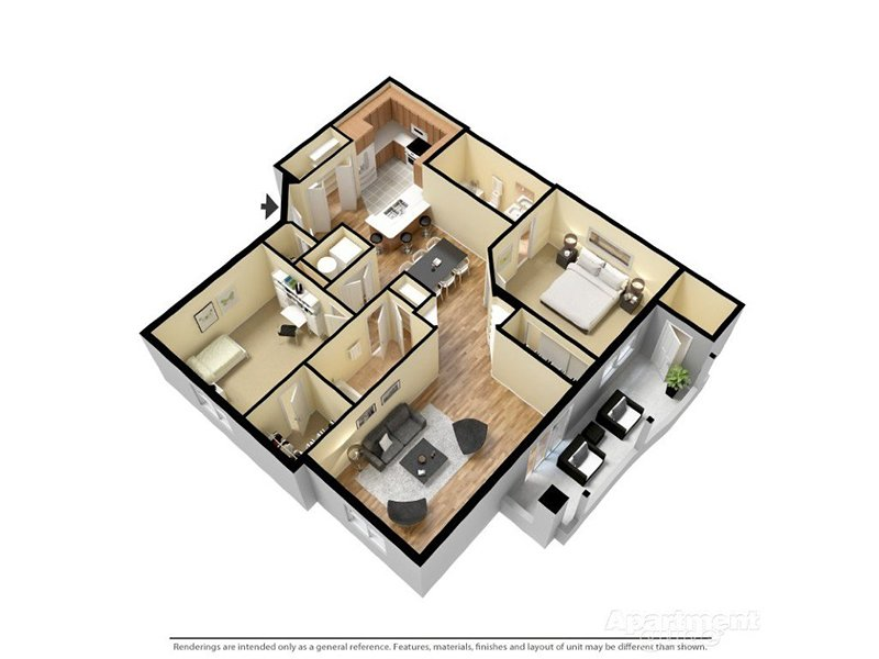Our Solana 2x2 is a 2 Bedroom, 2 Bathroom Apartment