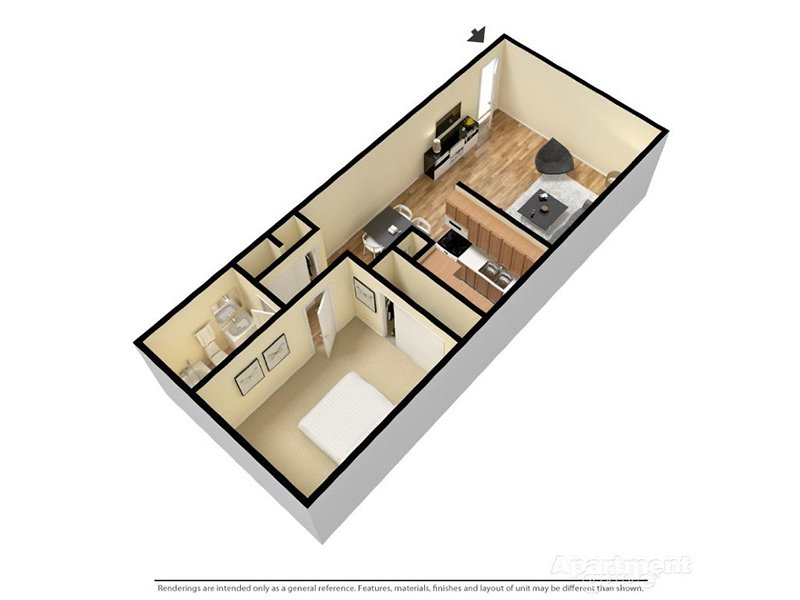 Our Sommerset 1x1 Enhanced is a 1 Bedroom, 1 Bathroom Apartment