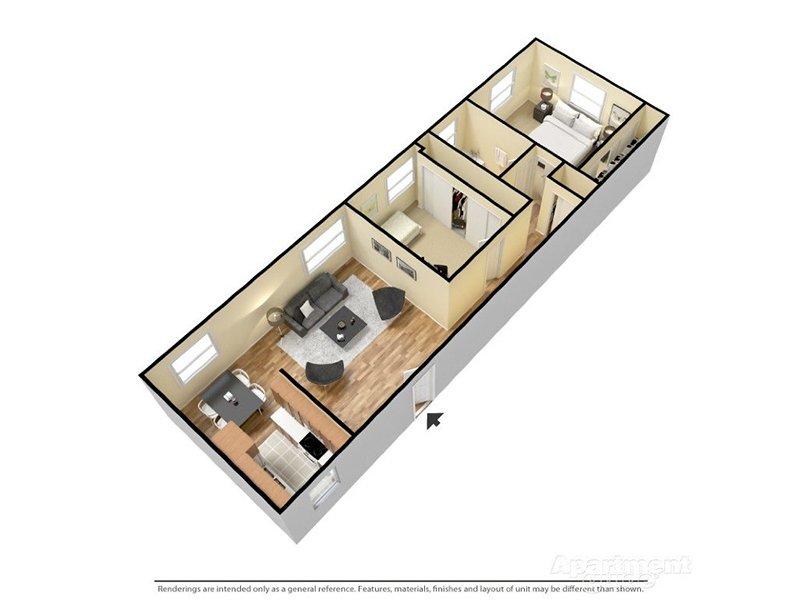 Our Venetian 2x1 is a 2 Bedroom, 1 Bathroom Apartment