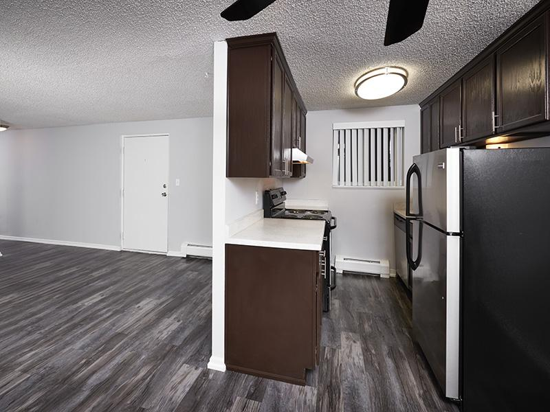 Kitchen & Living Room | 52nd Marketplace Apts in Arvada, CO