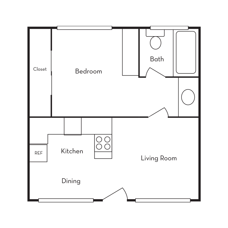 Floorplan for The Atrium Apartments