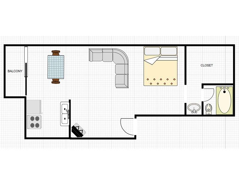 Our Studio STS is a Studio Bedroom, 1 Bathroom Apartment