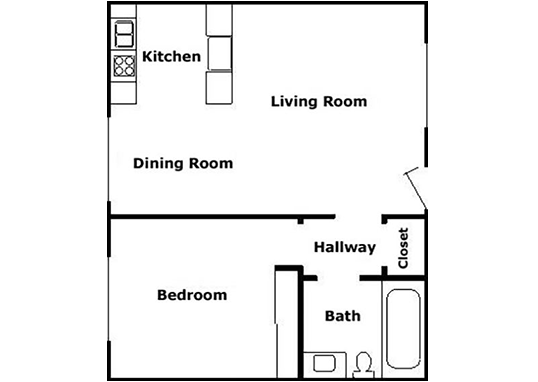Floorplan for Pacific Pines Apartments