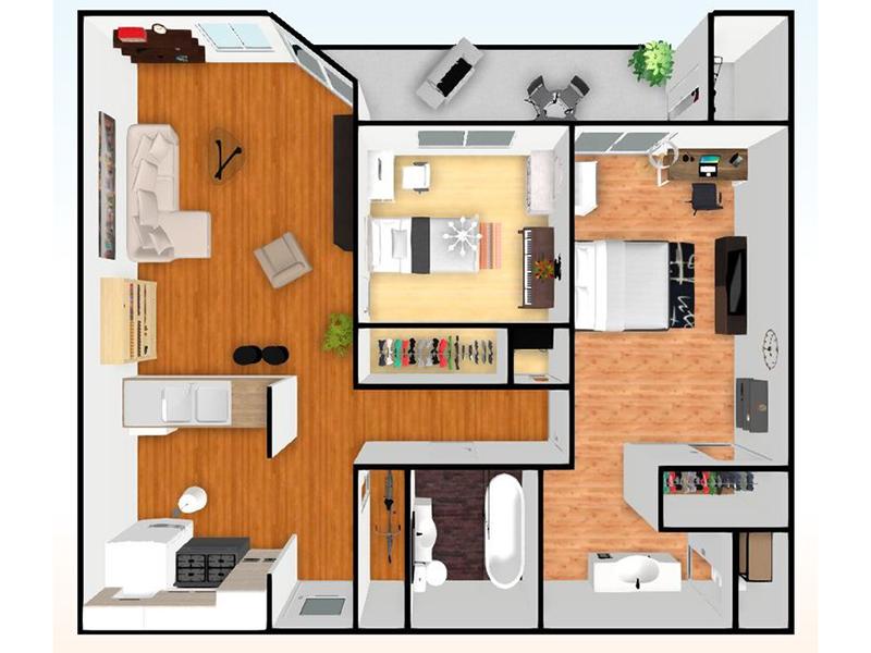 Our 2 Bedroom 1 Bathroom is a 2 Bedroom, 1 Bathroom Apartment