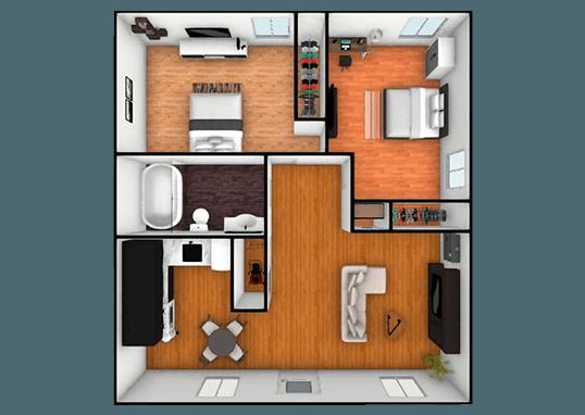 Floorplan for Hampshire Apartments