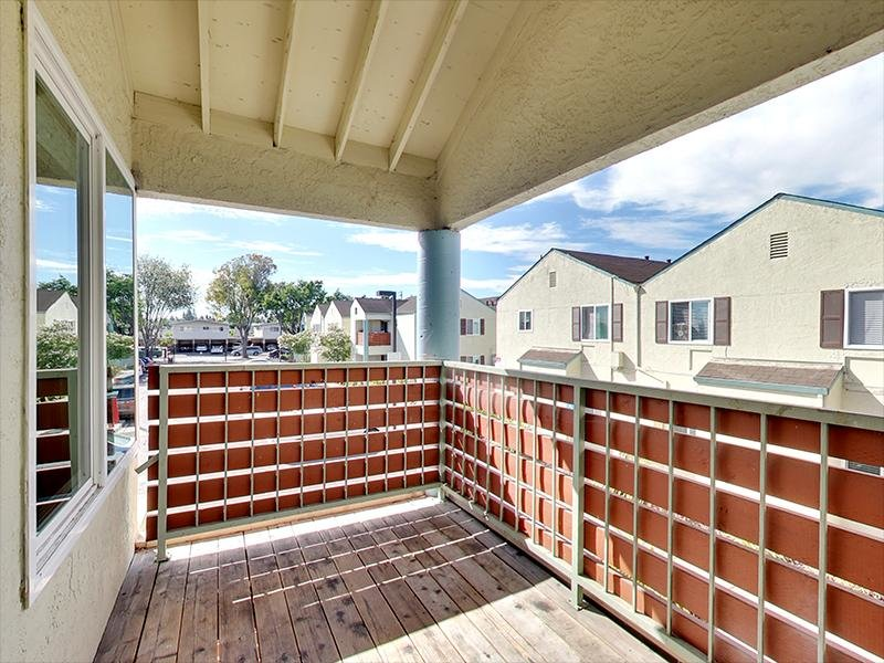 Balcony | Hampshire Apartments in Redwood City, CA
