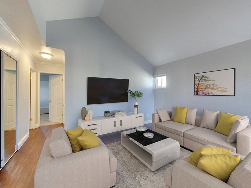 Living Room | 2 Bedroom | Hampshire Apartments in Redwood City, CA