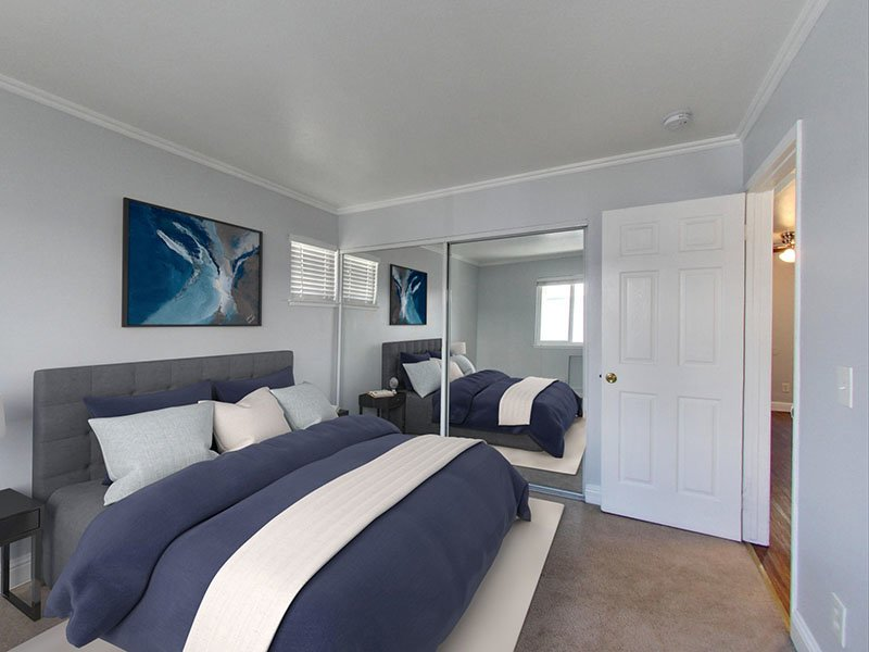 Bedroom | 2 Bedroom | Hampshire Apartments in Redwood City, CA