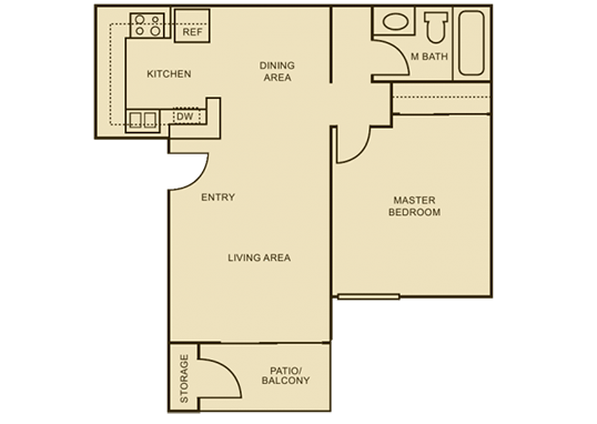 Floorplan for The Vue Apartments