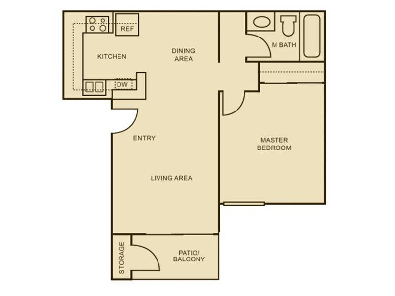 Our 1x1 - Enhanced is a 1 Bedroom, 1 Bathroom Apartment