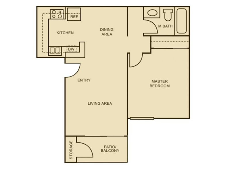 Our 1x1 - Renovated Plus is a 1 Bedroom, 1 Bathroom Apartment