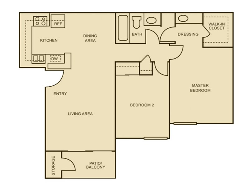 Our 2x1 - Enhanced is a 2 Bedroom, 1 Bathroom Apartment