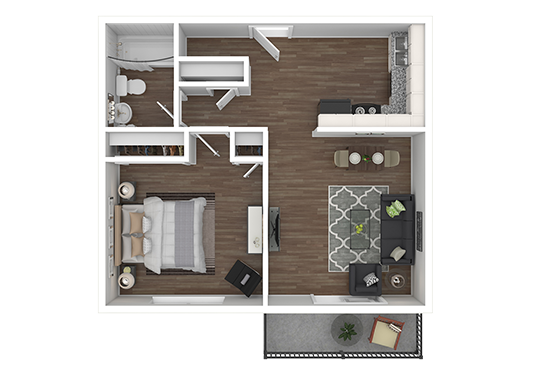 Floorplan for Aspenwood Apartments