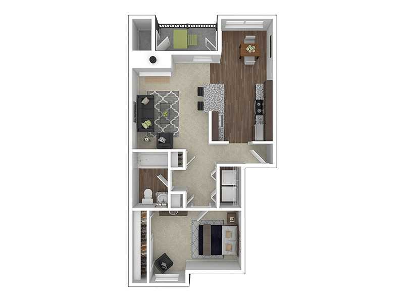 Floorplan for Stark Street Crossings Apartments