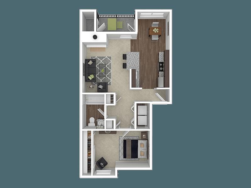 Floorplan for Stark Street Crossings Apartments