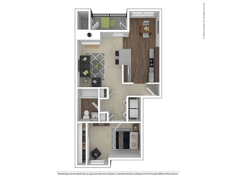 Our A1-729 is a 1 Bedroom, 1 Bathroom Apartment