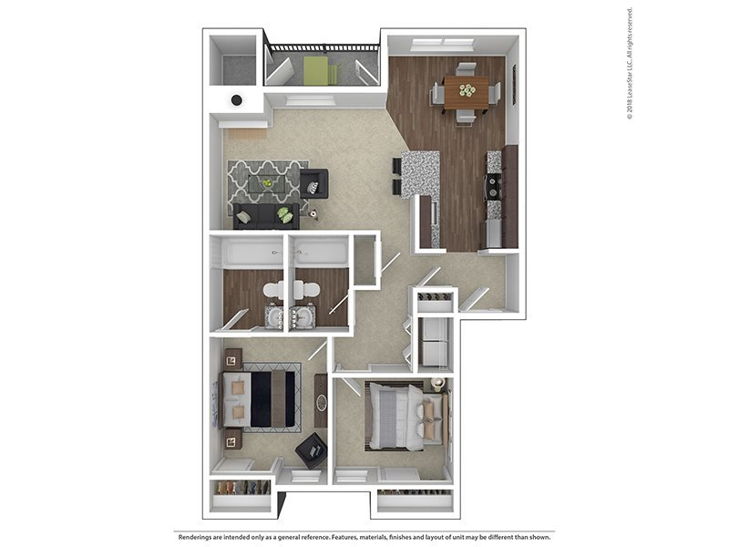 Our B2-938 is a 2 Bedroom, 2 Bathroom Apartment