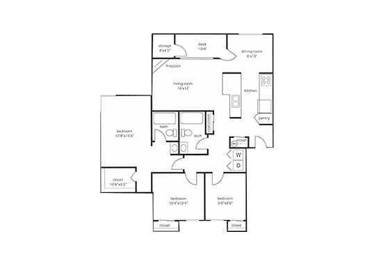 Floorplan for Powell Valley Farms Apartments