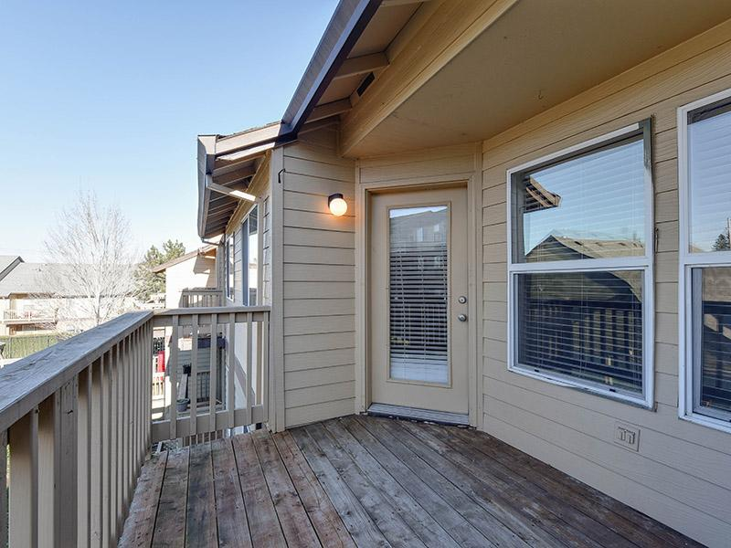 Apartment Balcony With Exterior View | Powell Valley Farms Apartments in Gresham OR
