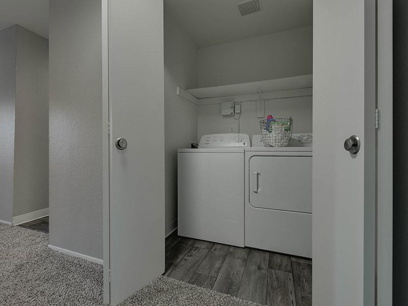 Laundry Room With Washer And Dryer | Powell Valley Farms Apartments in Gresham OR