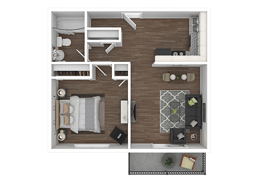 Floorplan for Aspen Meadows Apartments