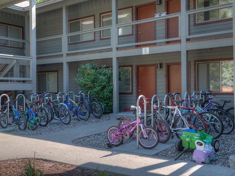 Bike Storage | Aspen Meadows Apartments