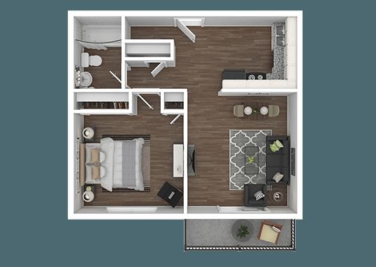 Floorplan for Aspen Meadows Apartments